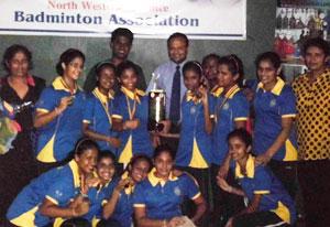 Under 15 Badminton Champions