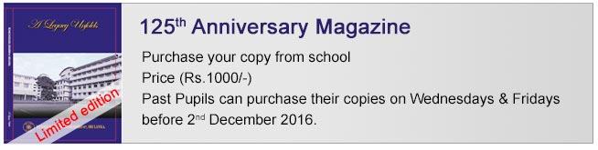 Musaeus College - Anniversary Magazine